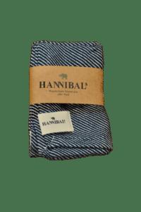 HANNIBALs - HANNIBALs Geschirrtuch – Dunkelblau Streifen/Schräg - 100% Baumwolle