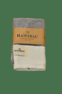 HANNIBALs - HANNIBALs Geschirrtuch – Schwarz/Weiß - 100% Baumwolle