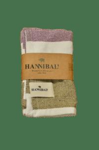 HANNIBALs - HANNIBALs Geschirrtuch – Creme/Fuchsia/Ocker - 100% Baumwolle