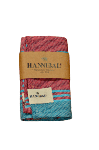HANNIBALs - HANNIBALs Geschirrtuch – Aquablau/Fuchsia - 100% Baumwolle