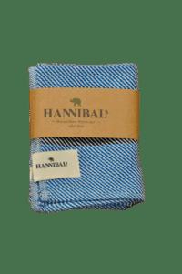 HANNIBALs - HANNIBALs Geschirrtuch – Royalblau Streifen/Schräg - 100% Baumwolle