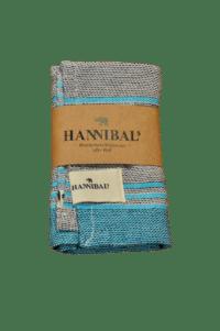 HANNIBALs - HANNIBALs Geschirrtuch – Schwarz/Aquablau - 100% Baumwolle