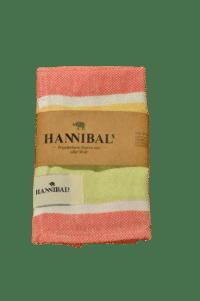 HANNIBALs - HANNIBALs Geschirrtuch – Grün/Gelb/Rot - 100% Baumwolle