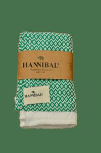 HANNIBALs - HANNIBALs Geschirrtuch – Raute Grün/Weiß - 100% Baumwolle