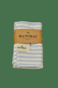 HANNIBALs - HANNIBALs Geschirrtuch – Hellblau gestreift - 100% Baumwolle
