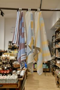 HANNIBALs - HANNIBALs Geschirrtuch – Blau/Bordeaux - 100% Baumwolle