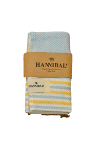 HANNIBALs - HANNIBALs Geschirrtuch – Gelb/Blau gestreift - 100% Baumwolle