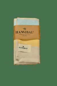 HANNIBALs - HANNIBALs Geschirrtuch – Gelb/Hellblau/Creme - 100% Baumwolle