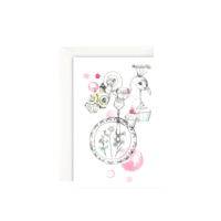 LEO LA DOUCE - Grußkarte – It´s Tea Time - mit Kuvert