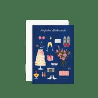 LEO LA DOUCE - Grußkarte – Blaue Hochzeit - mit Kuvert