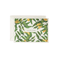 LEO LA DOUCE - Grußkarte – Goldene Orange – Vielen Dank - mit Kuvert