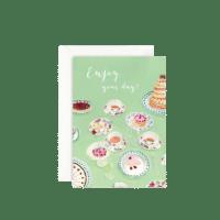 LEO LA DOUCE - Grußkarte – Enjoy your Day - mit Kuvert