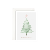 LEO LA DOUCE - Frohe Festtage - Grußkarte mit Kuvert
