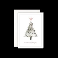 LEO LA DOUCE - Weihnachtsbaum Dots - Grußkarte mit Kuvert