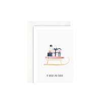 LEO LA DOUCE - Be Merry And Bright - Grußkarte mit Kuvert