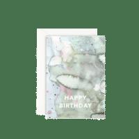 LEO LA DOUCE - Grußkarte – Happy Birthday-Waterclouds - mit Kuvert