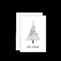 LEO LA DOUCE - CHRISTMAS TREE – DOTS - Grußkarte mit Kuvert
