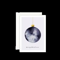 LEO LA DOUCE - Weihnachtskugel - Grußkarte mit Kuvert