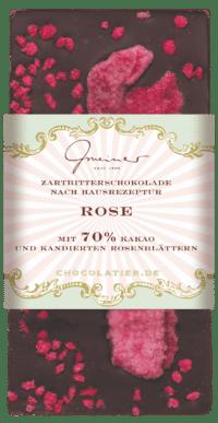 Gmeiner - Gmeiner Schokolade – Kandierte Rose - mit 70% Kakao