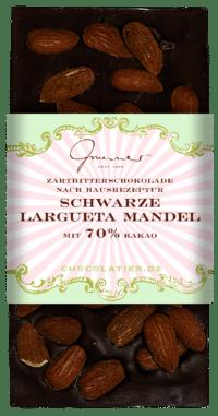 Gmeiner - Gmeiner Schokolade – Schwarze Largueta Mandel - mit 70% Kakao