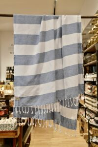 HANNIBALs - HANNIBALs Hamamtuch – Blau/Weiß - Strandtuch - 100% Baumwolle
