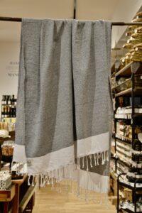 HANNIBALs - HANNIBALs Hamamtuch – Schwarz/Weiß - Strandtuch - 100% Baumwolle