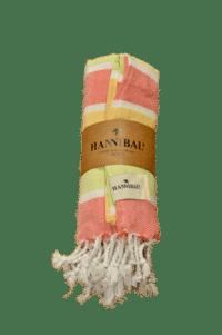 HANNIBALs - HANNIBALs Hamamtuch – Grün/Gelb/Rot - Strandtuch - 100% Baumwolle