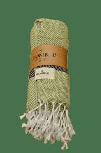 HANNIBALs - HANNIBALs Hamamtuch – Grün/Schwarz - Strandtuch - 100% Baumwolle