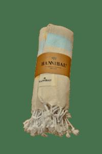 HANNIBALs - HANNIBALs Hamamtuch – Gelb/Hellblau - Strandtuch - 100% Baumwolle