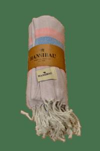 HANNIBALs - HANNIBALs Hamamtuch – Flieder/Blau - Strandtuch - 100% Baumwolle