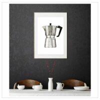 LEO LA DOUCE - Kunstdruck – Espresso Maker II