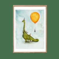 LEO LA DOUCE - Kunstdruck – Dino Party