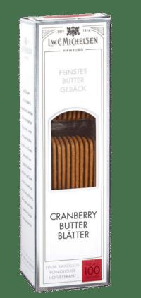 L.W.C. Michelsen - Cranberry-Butter-Blätter - Extra dünne Butterblätter mit fein-säuerlichen Cranberry-Stückchen