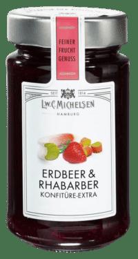L.W.C. Michelsen - Erdbeer & Rhabarber Konfiture -extra- - Feinster Manufaktur Fruchtaufstrich