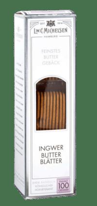 L.W.C. Michelsen - Ingwer-Butter-Blätter - Extra dünne Butterblätter mit Kandis und feinem Ingwer.