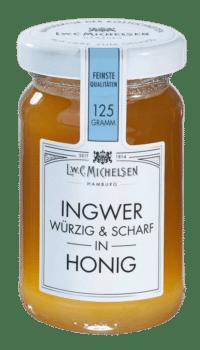 L.W.C. Michelsen - Ingwer in Honig - Feinster Blütenhonig mit Ingwer