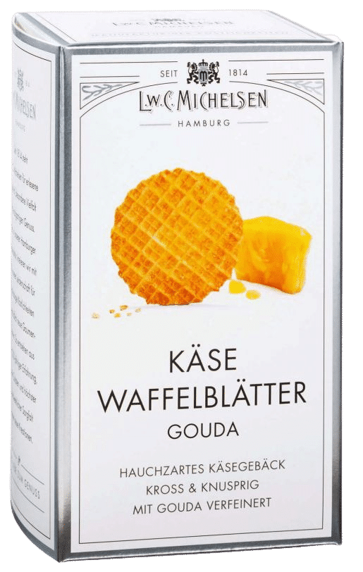 L.W.C. Michelsen - Käse-Waffelblätter Gouda - Hauchdünn und extra fein mit würzigem Gouda-Käse gebacken