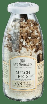 L.W.C. Michelsen - Milchreis mit Gourmet-Vanille - Milchreismischung mit echter Vanilleschote, Knusperzucker und Milchreis