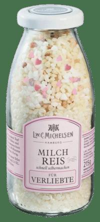 L.W.C. Michelsen - Milchreis für Verliebte - Leckerer Milchreis zum selberkochen mit kleinen Zuckerherzen