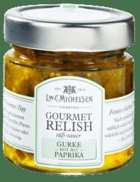 L.W.C. Michelsen - Gourmet Gurken-Relish - Süß-Sauer mit Paprika & leichter Schärfe