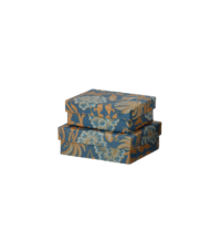 BUNGALOW - Mini Geschenkboxen Matis Midnight – Floral - 2er Set