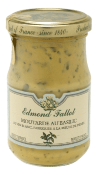 EDMOND FALLOT - FALLOT Dijon Senf mit Basilikum 210g