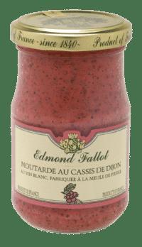 EDMOND FALLOT - FALLOT Dijon Senf mit schwarzer Johannisbeere 105g - Moutarde au Cassis de Dijon