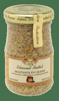 EDMOND FALLOT - FALLOT Dijon Senf – körnig 105g - Moutarde en grains