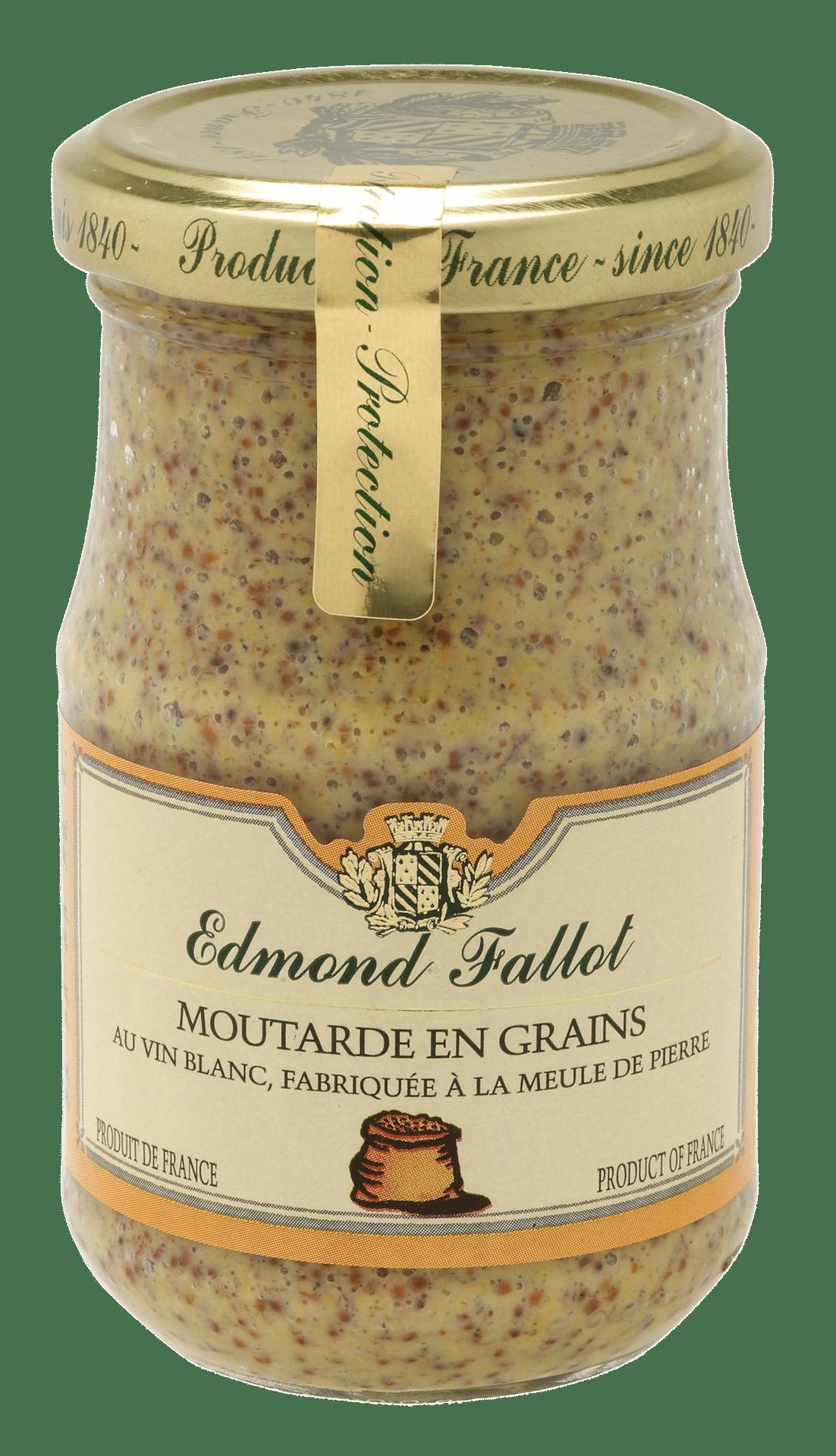 EDMOND FALLOT - FALLOT Dijon Senf – körnig 210g - Moutarde en grains