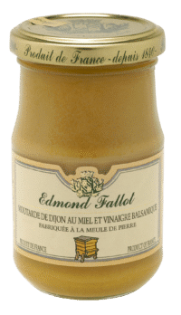 EDMOND FALLOT - FALLOT Dijon Senf mit Honig & Balsamico Essig 105g - Moutarde au Miel & Vinaigre Balsamique