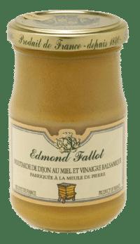 EDMOND FALLOT - FALLOT Dijon Senf mit Honig & Balsamico Essig 210g - Moutarde au Miel & Vinaigre Balsamique