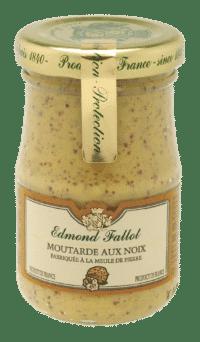 EDMOND FALLOT - FALLOT Dijon Senf mit Walnuss 105g - Moutarde aux Noix