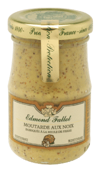 EDMOND FALLOT - FALLOT Dijon Senf mit Walnuss 210g - Moutarde aux Noix