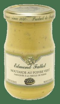EDMOND FALLOT - FALLOT Dijon Senf mit grünem Pfeffer 105g - Moutarde au Poivre vert